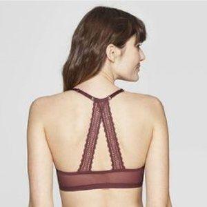 Auden Intimates & Sleepwear - Auden Women's Racerback Push Up Bra - Burgundy